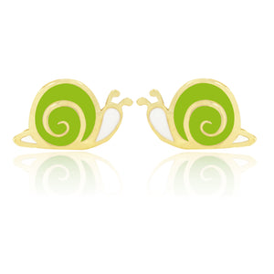 Snugums The Snail Earrings - Green