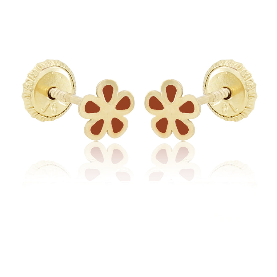 Flower Power Earrings - Orange
