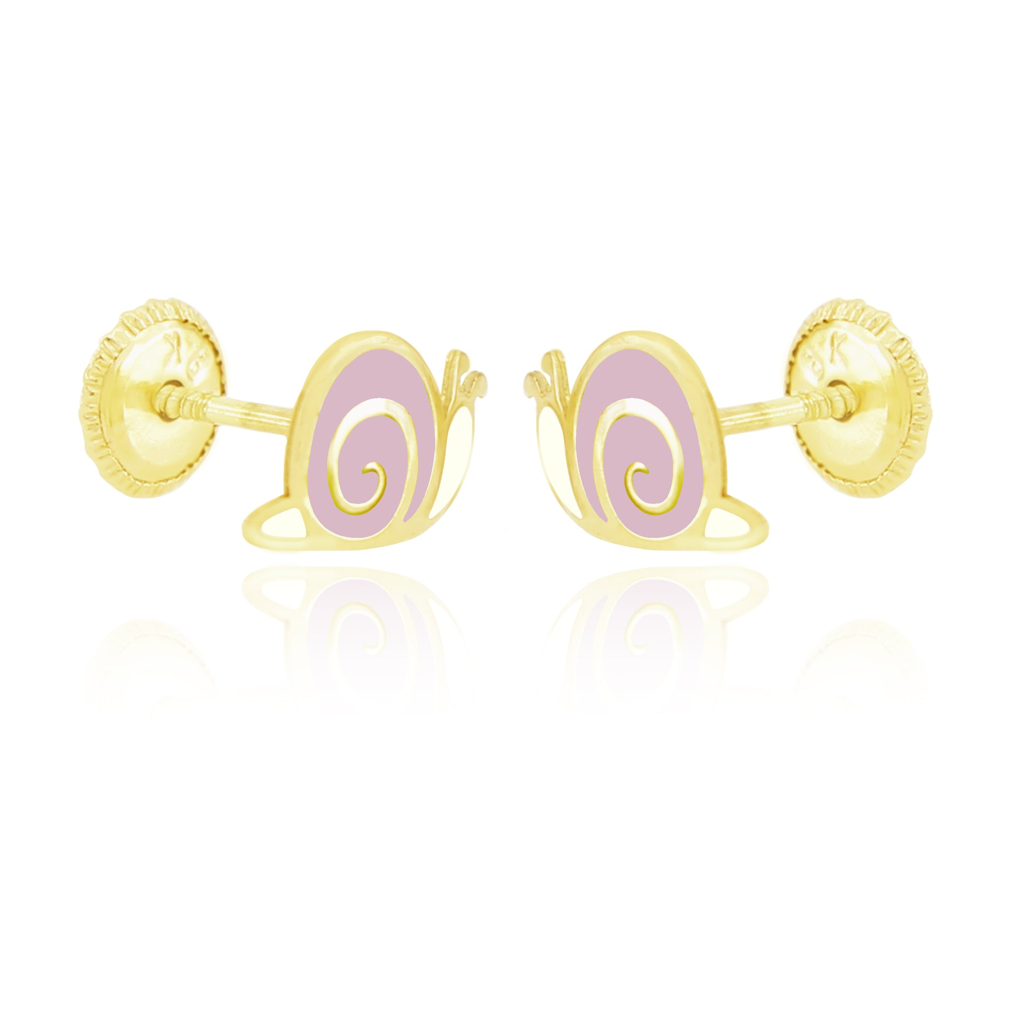 Snugums The Snail Earrings - Pink