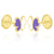 GS Papillon Earrings - Purple/White