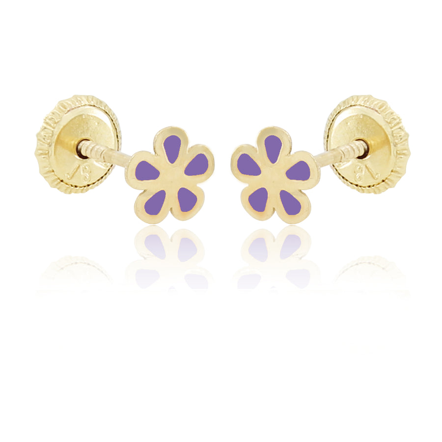 Flower Power Earrings - Purple