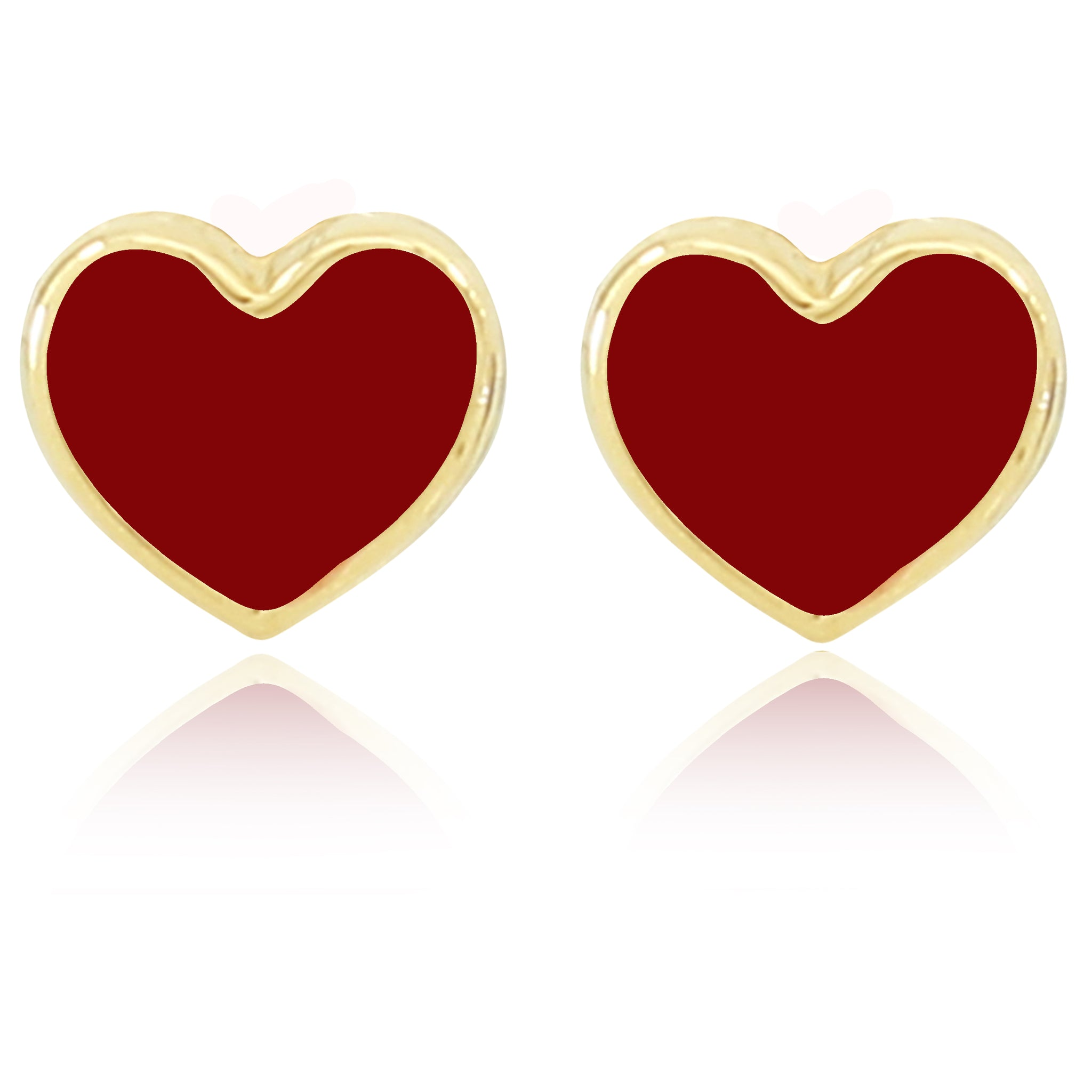 Shape of My Heart Earrings - Red