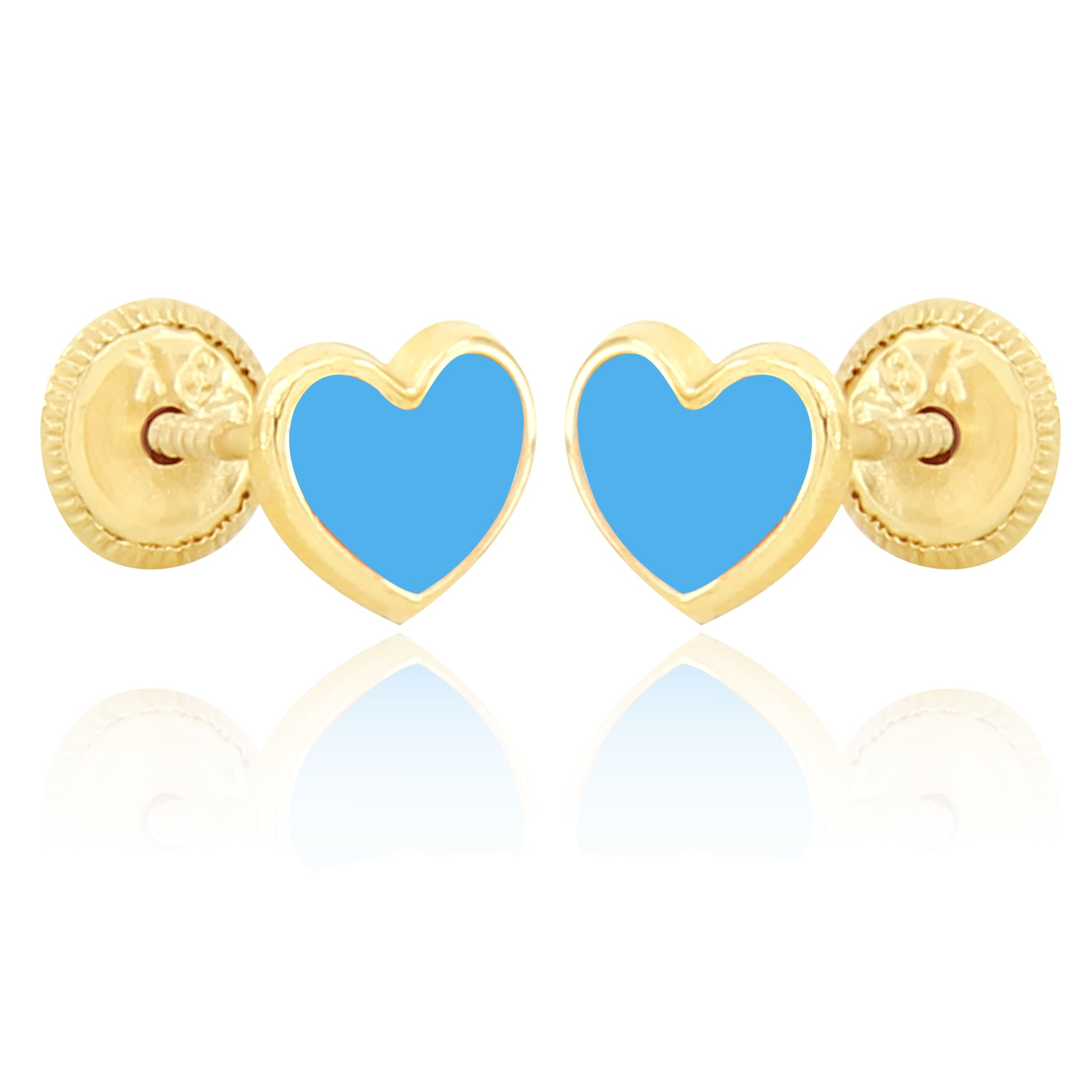 Shape of My Heart Earrings - Blue