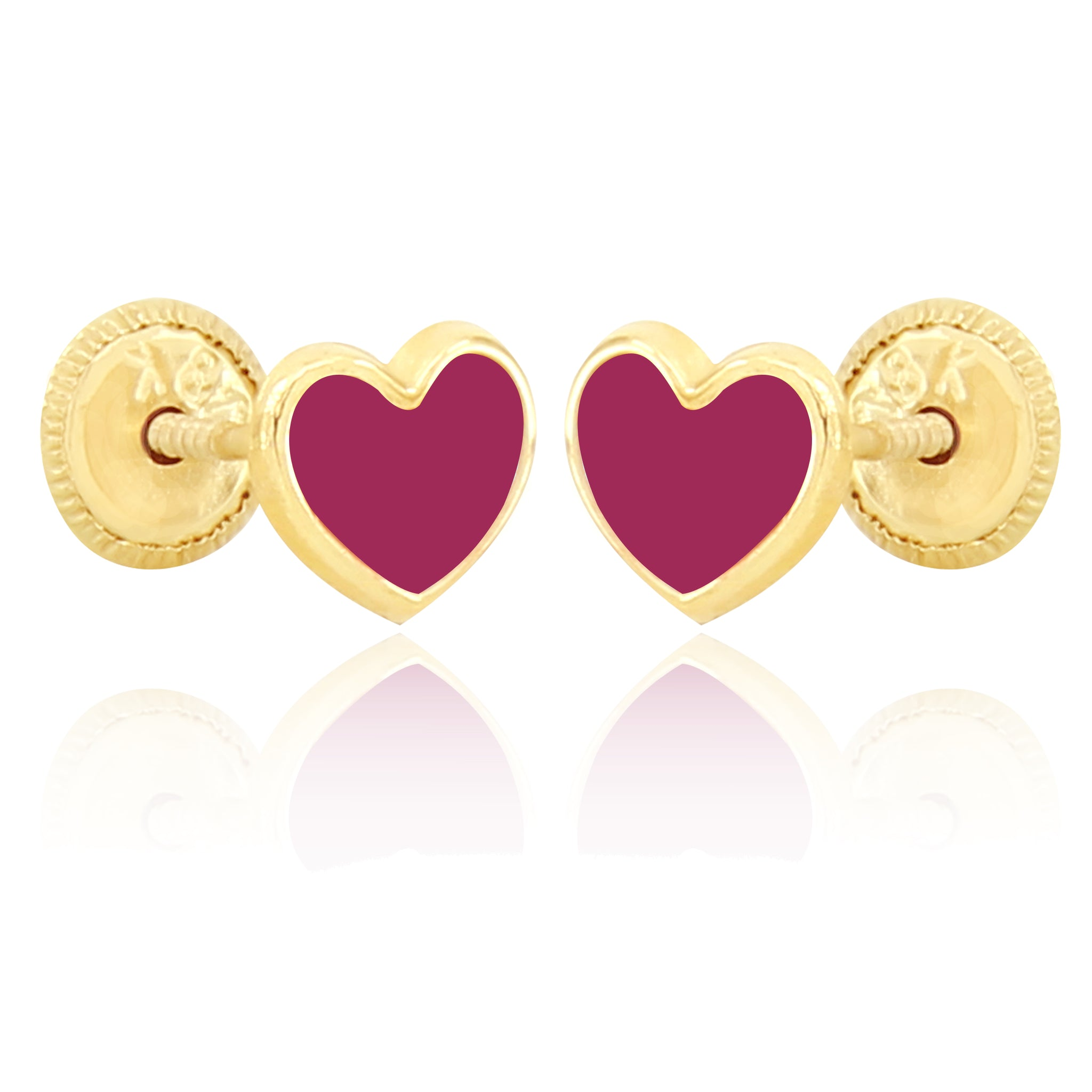 Shape of My Heart Earrings - Fusia