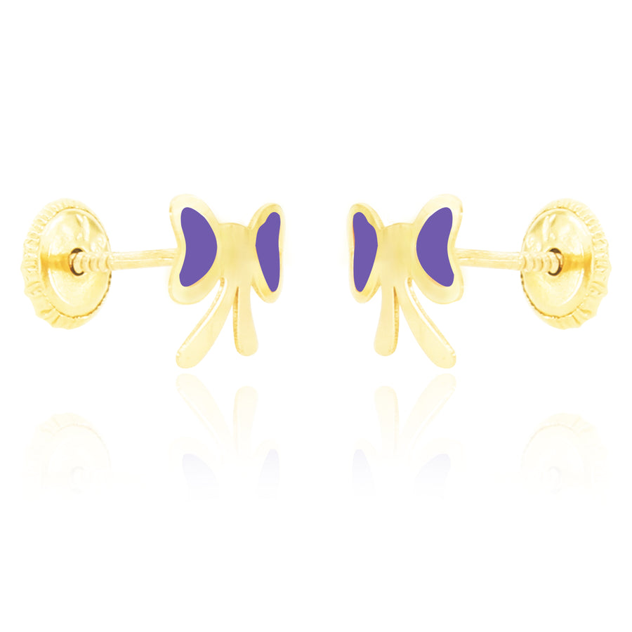 Flutterby Earrings - Purple