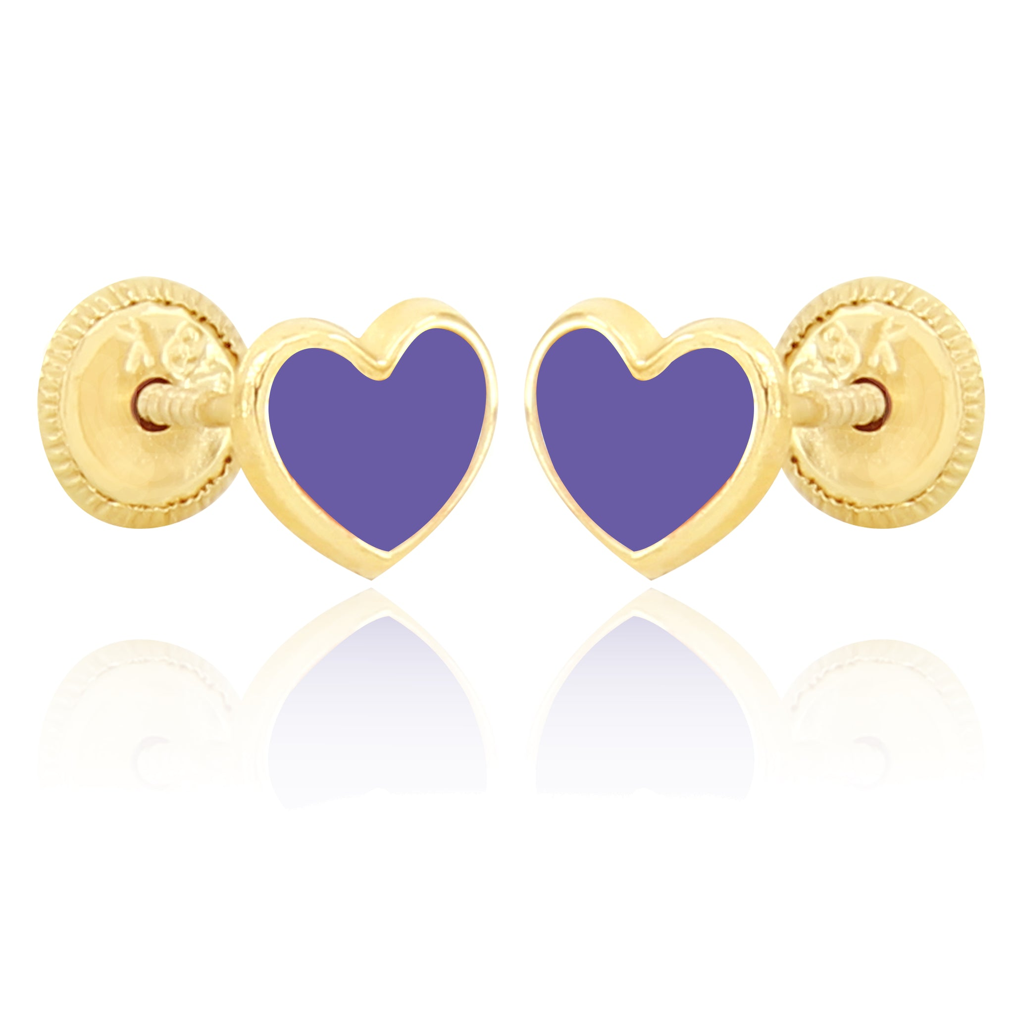 Shape of My Heart Earrings - Purple