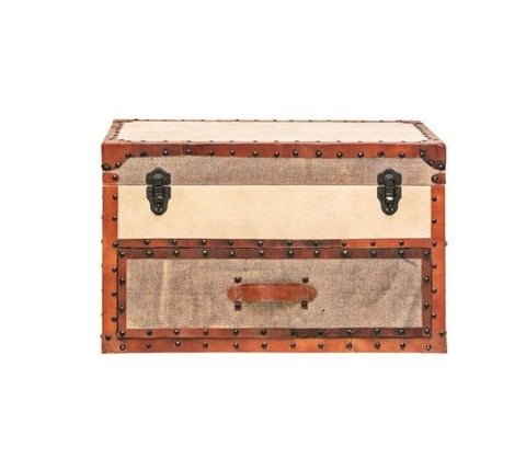 Rectangle Leather Trunk - Vriksh of Life
