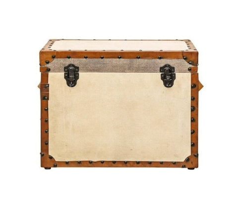 Square Leather Trunk - Vriksh of Life