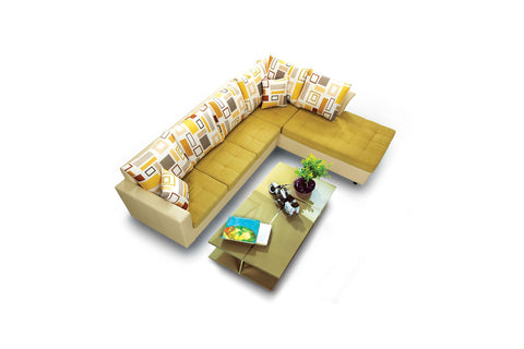 Amsterdam L Shaped Sofa - Vriksh of Life