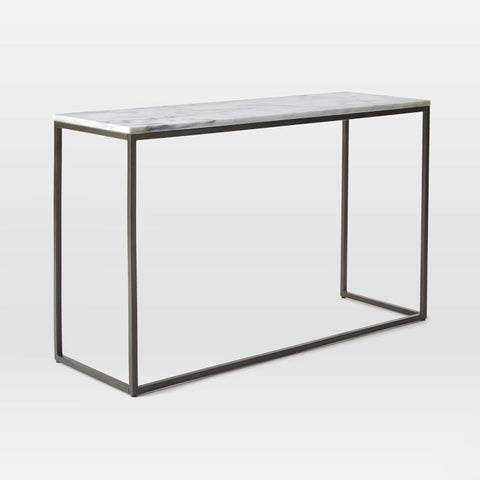 Box Frame Marble Top Console - Vriksh of Life
