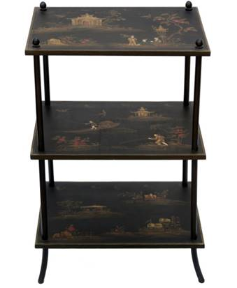 Hand Painted Chinoiserie Three Tray Table - Vriksh of Life