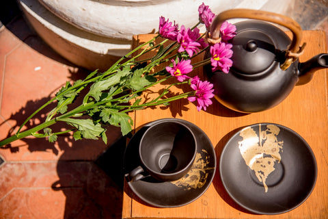 MATT LEAF TEA-SET - Vriksh of Life