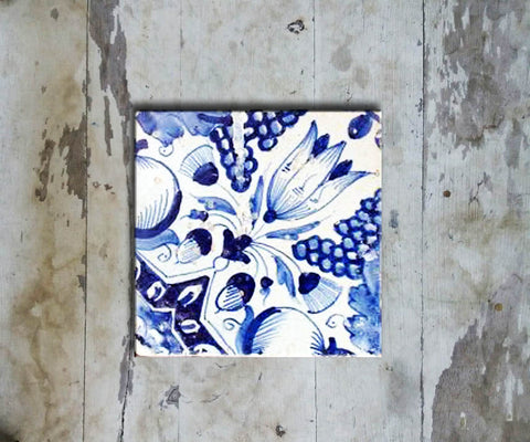 Hand-painted 'DUTCH SQUARE TILE' DUTCH TILE-009 - Vriksh of Life