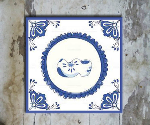 Hand-painted 'DUTCH SQUARE TILE' DUTCH TILE-011 - Vriksh of Life