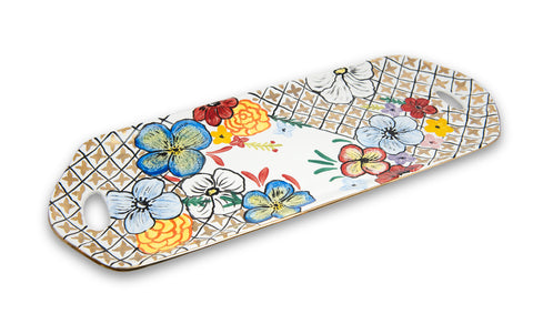 ENCHANTED GARDEN LONG TRAY WITH HANDLE - Vriksh of Life