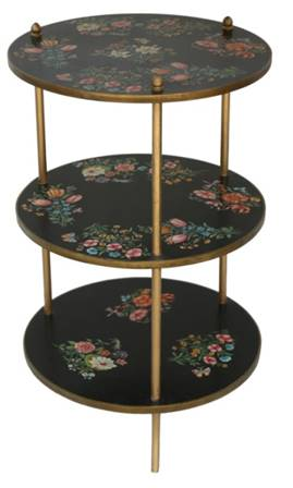 Hand Painted Three Tray Table - Vriksh of Life