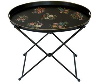Hand Painted Round Tray Table - Vriksh of Life