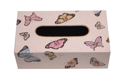 Butterfly Hand Painted Tissue Box - Vriksh of Life