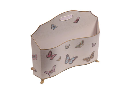 Butterfly hand Painted Magazine and Newpaper Holder - Vriksh of Life