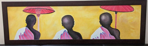 3 Monks Painting Framed - Vriksh of Life