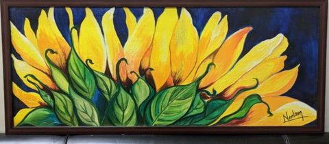 Sunflower Blue & Yellow Frame - Vriksh of Life
