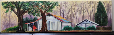 American Farm House Scenery Painting - Vriksh of Life