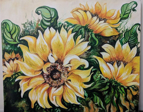 Sunflower Stretch Canvas - Vriksh of Life