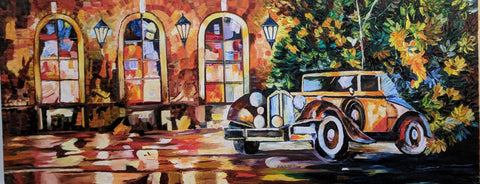 Vintage Car Painting - Vriksh of Life