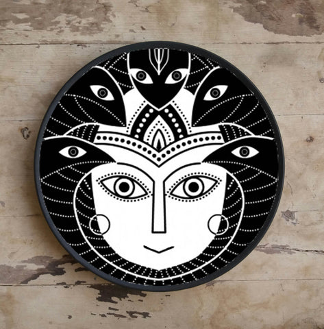 Hand Painted Wall Plate Indian God-010 - Vriksh of Life