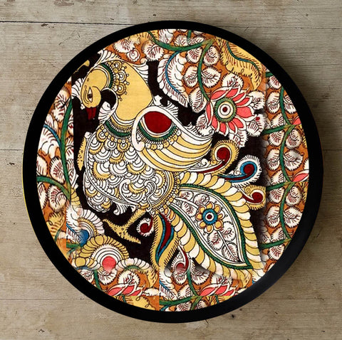 Hand Painted Wall Plate Kalamkari-001 - Vriksh of Life