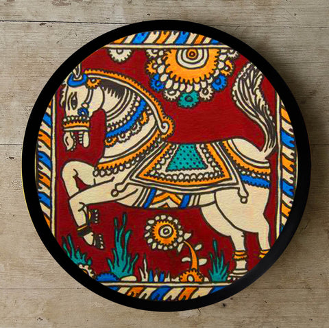 Hand Painted Wall Plate Kalamkari-003 - Vriksh of Life