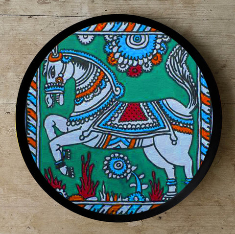 Hand Painted Wall Plate Kalamkari-005 - Vriksh of Life