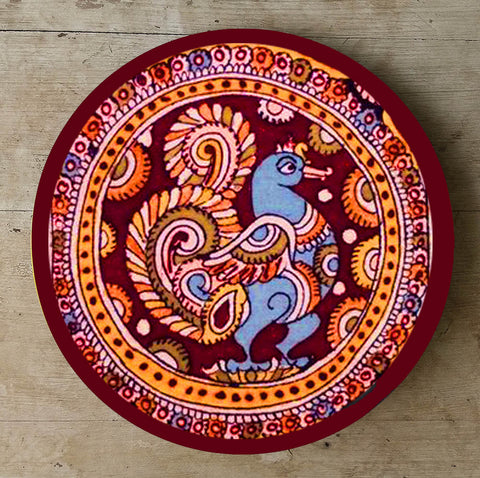 Hand Painted Wall Plate Kalamkari-007 - Vriksh of Life