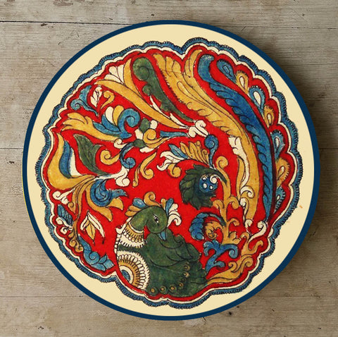 Hand Painted Wall Plate Kalamkari-009 - Vriksh of Life