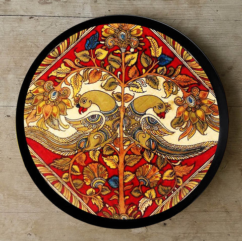 Hand Painted Wall Plate Kalamkari-011 - Vriksh of Life