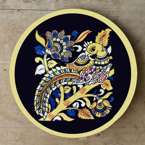 Hand Painted Wall Plate Kalamkari-012 - Vriksh of Life