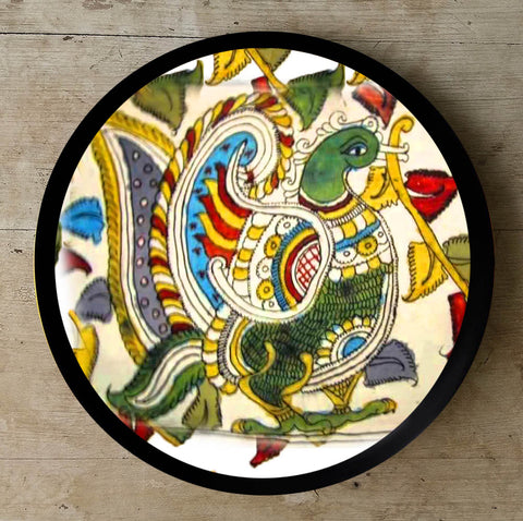 Hand Painted Wall Plate Kalamkari-014 - Vriksh of Life