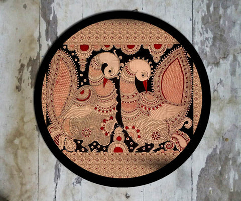 Hand Painted Wall Plate Kalamkari-016 - Vriksh of Life