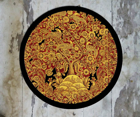 Hand Painted Wall Plate Kalamkari-017 - Vriksh of Life