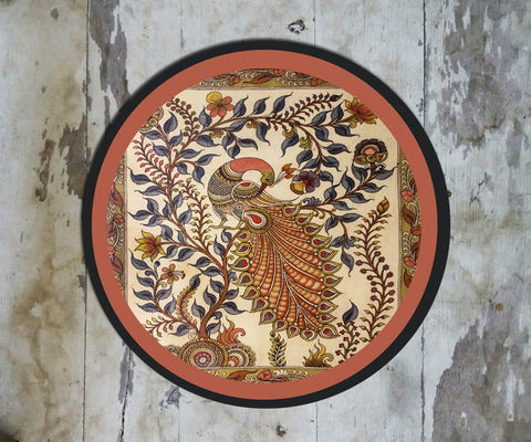 Hand Painted Wall Plate Kalamkari-019 - Vriksh of Life