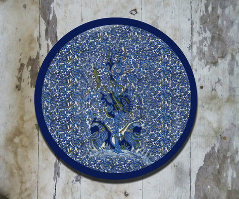 Hand Painted Wall Plate Kalamkari-020 - Vriksh of Life