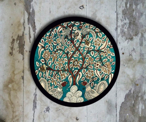 Hand Painted Wall Plate Kalamkari-021 - Vriksh of Life