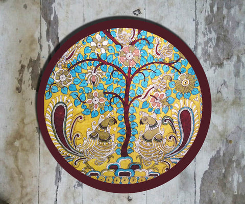 Hand Painted Wall Plate Kalamkari-022 - Vriksh of Life