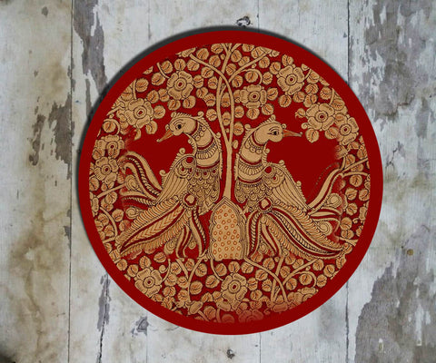 Hand Painted Wall Plate Kalamkari-023 - Vriksh of Life