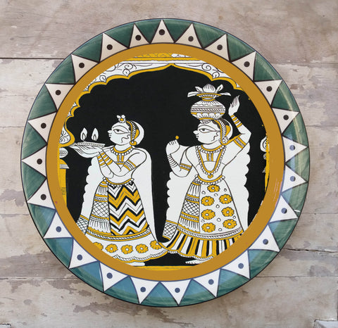 Hand Painted Wall Plate Mela-004 - Vriksh of Life