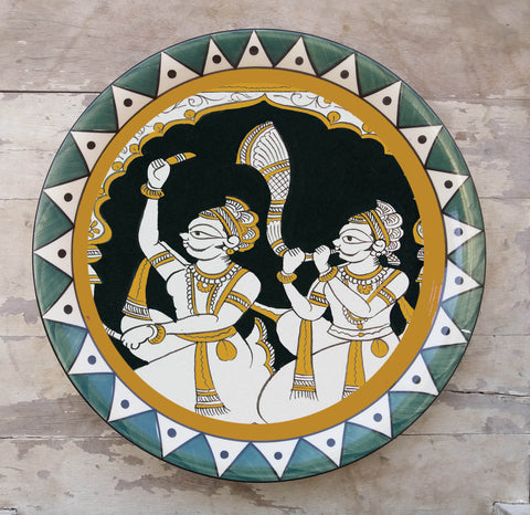 Hand Painted Wall Plate Mela-005 - Vriksh of Life