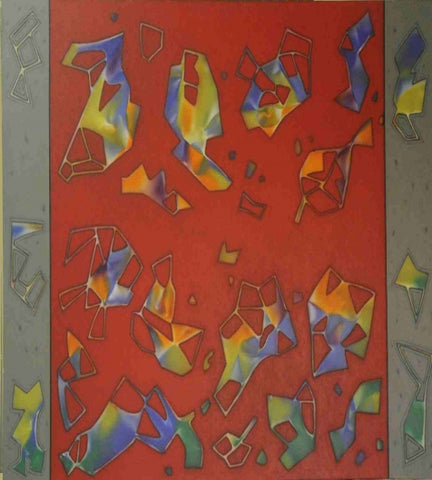 Abstract Painting By Santosh Varma - Vriksh of Life