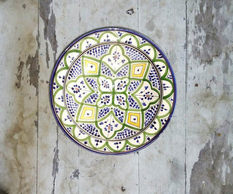 Hand Painted Wall Plate Moroccan-091 - Vriksh of Life