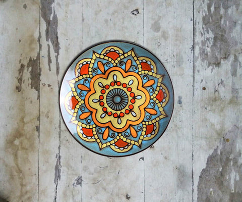 Hand Painted Wall Plate Moroccan-096 - Vriksh of Life
