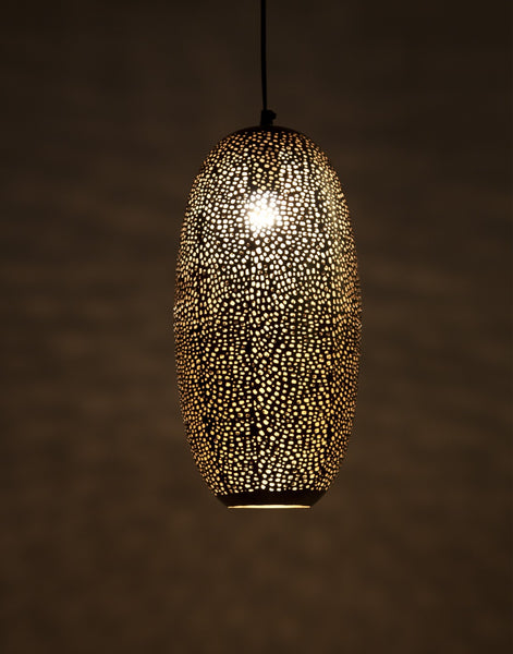 Silver Oval Hanging Lamp - Vriksh of Life